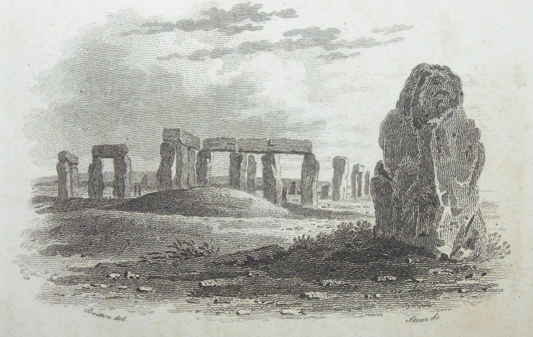 Print - (Stonehenge from the East) Title Vignette -