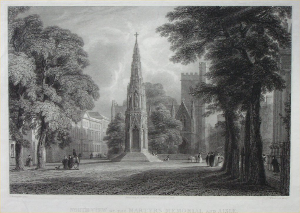 Print - North View of the Martyr's Memorial and Aisle - Raclyffe