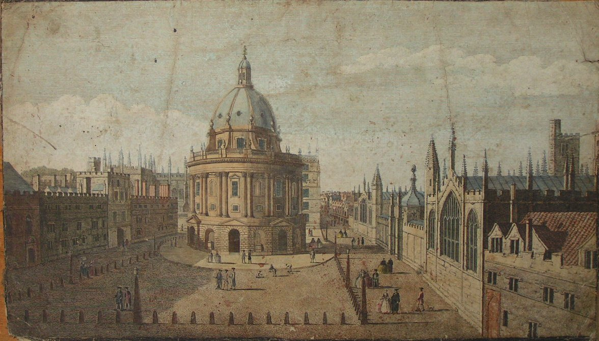 Print - A View of Ratcliffs Library in the City of Oxford with All Souls College on the Right & Brazen Nose College on the Left - Boydell