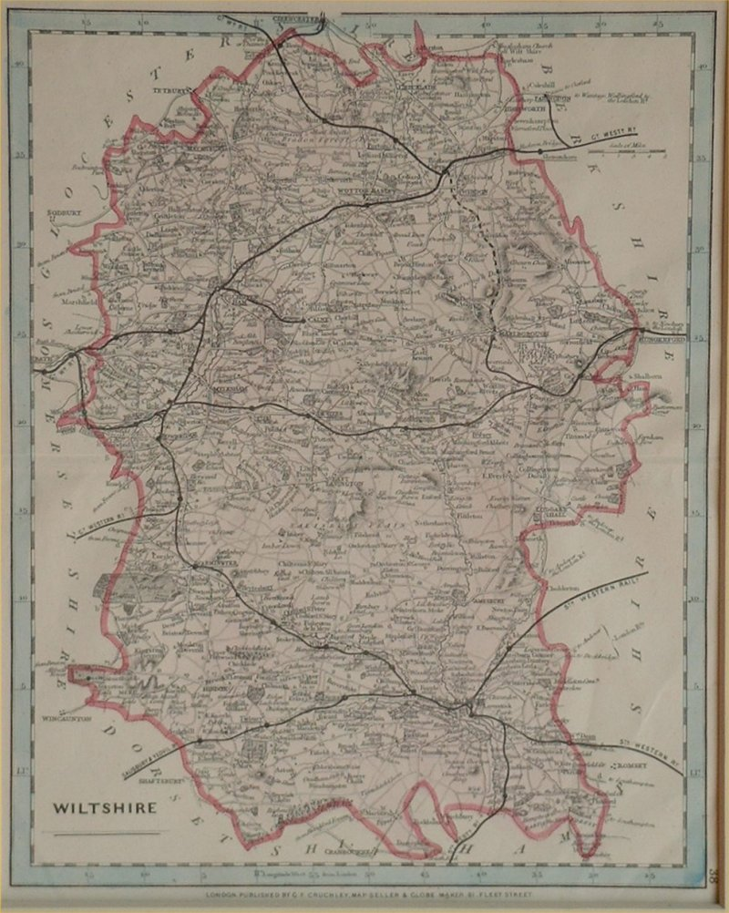 Map of Wiltshire - Cary-Cruchley