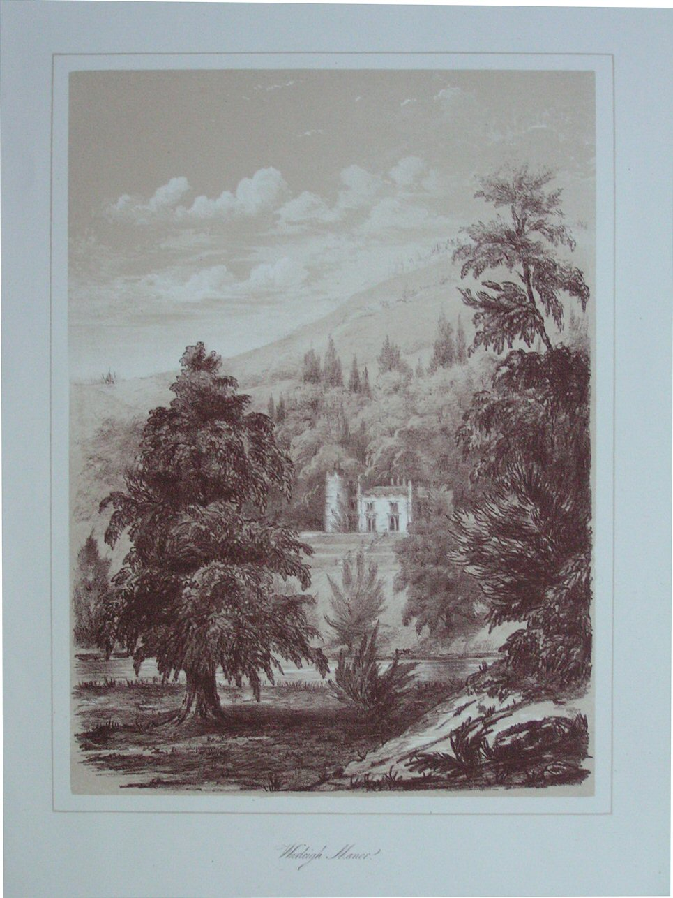 Lithograph - Warleigh Manor
