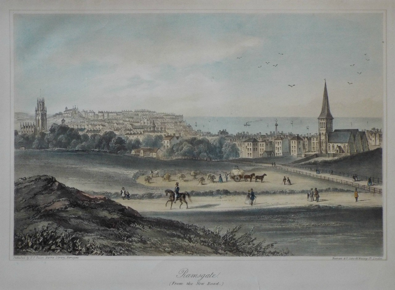 Lithograph - Ramsgate. (From the New Road.)