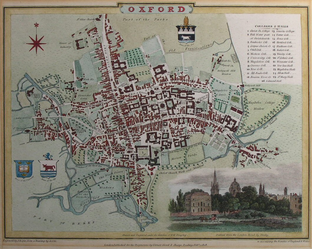 Map of Oxford - Oxford