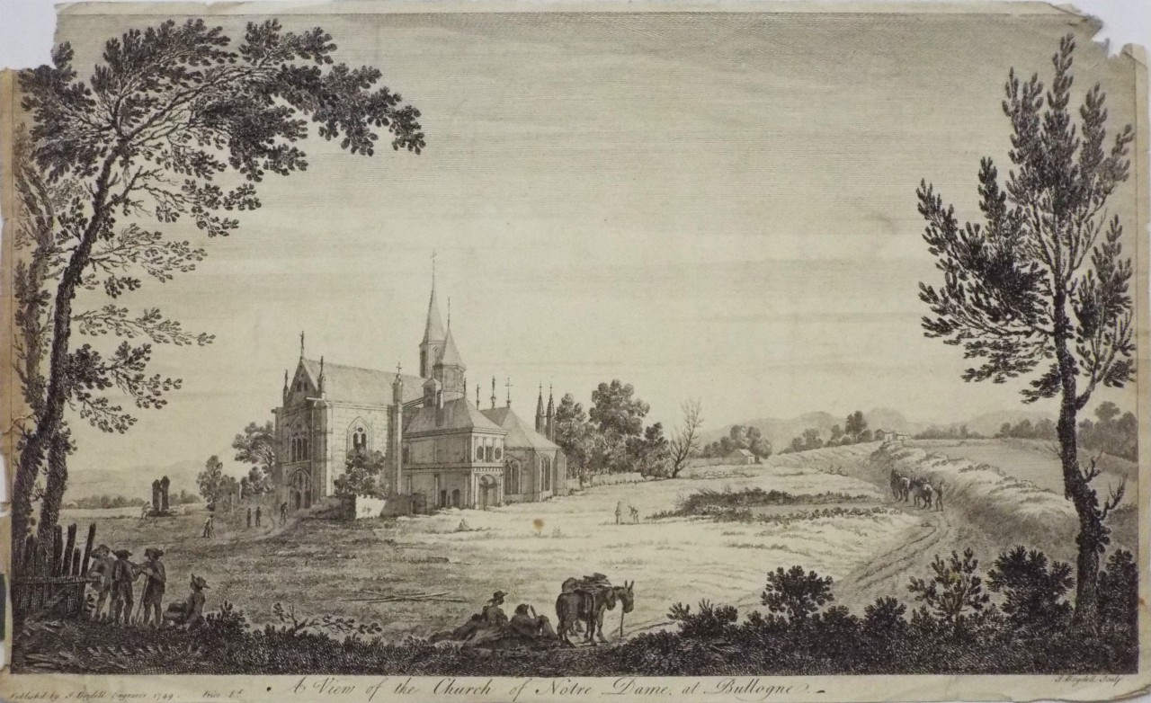 Print -  A View of the church of Notre Dame at Bullogne. - Boydell