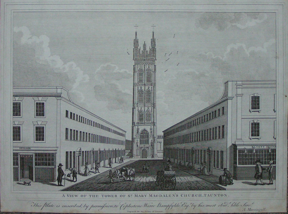 Print - A View of the Tower of St. Mary Magdalen's Church, Taunton - Marsingall