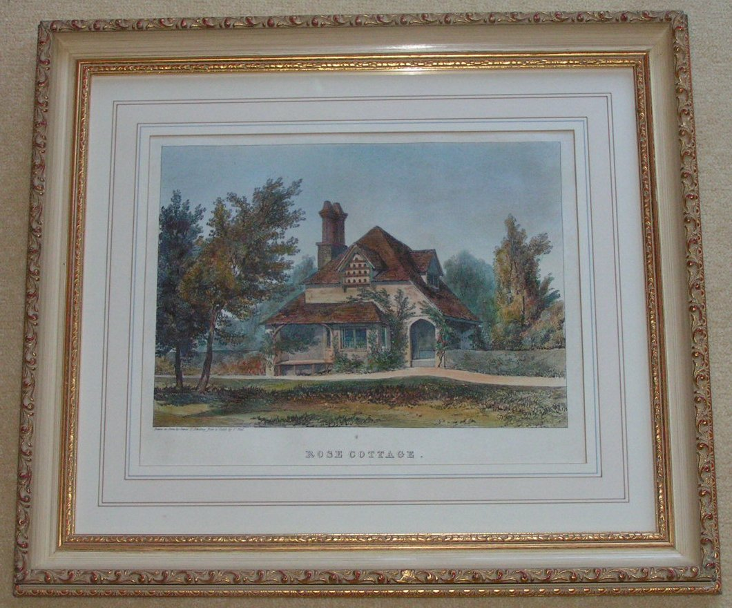 Lithograph - Rose Cottage - Harding