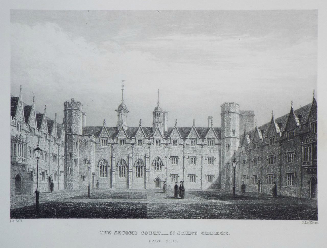 Print - The Second Court - St. John's College. East Side. - Le