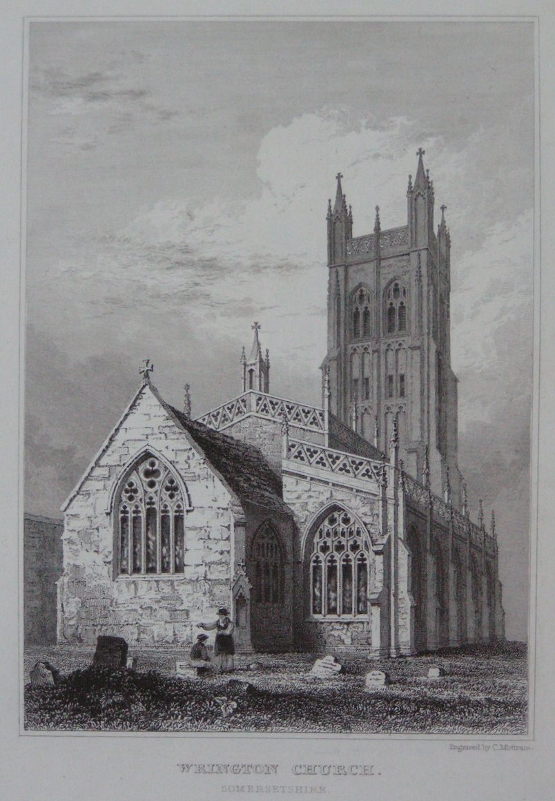 Print - Wrington Church, Somersetshire - Mottram