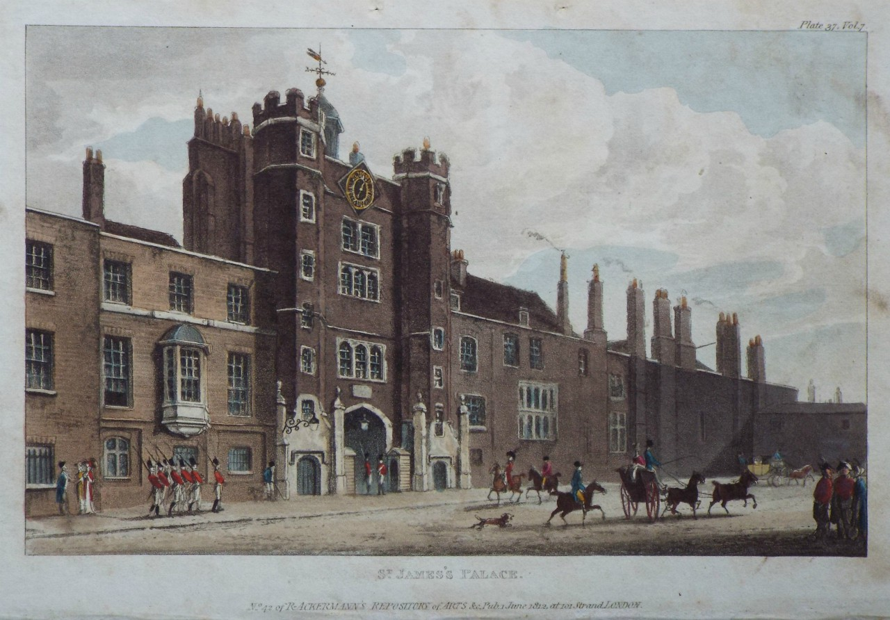 Aquatint - St. James's Palace.