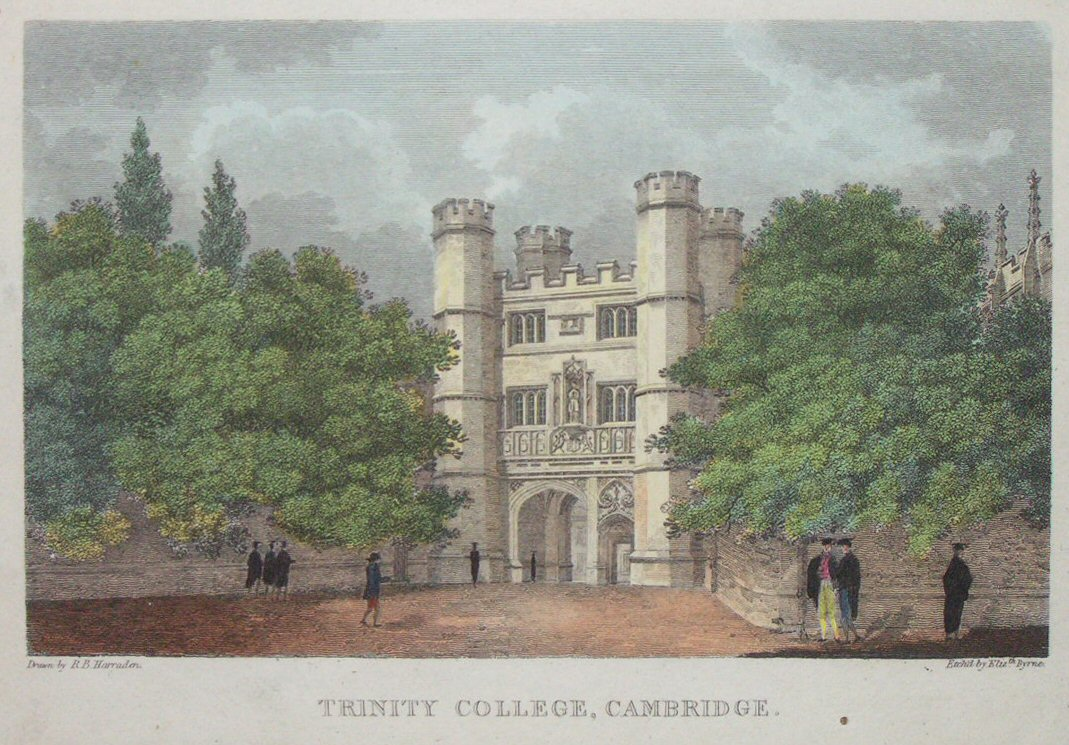 Print - Trinity College, Cambridge. - Byrne