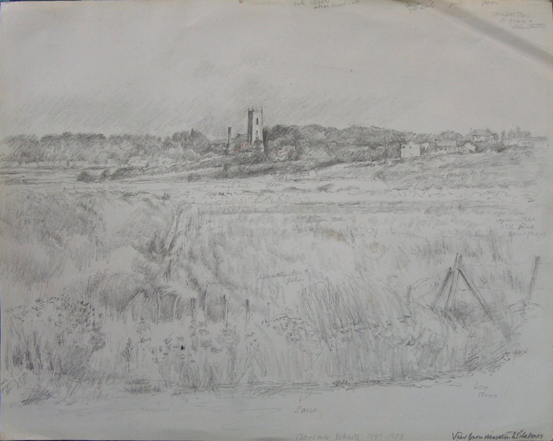 Pencil - View from Morston to Blakeney