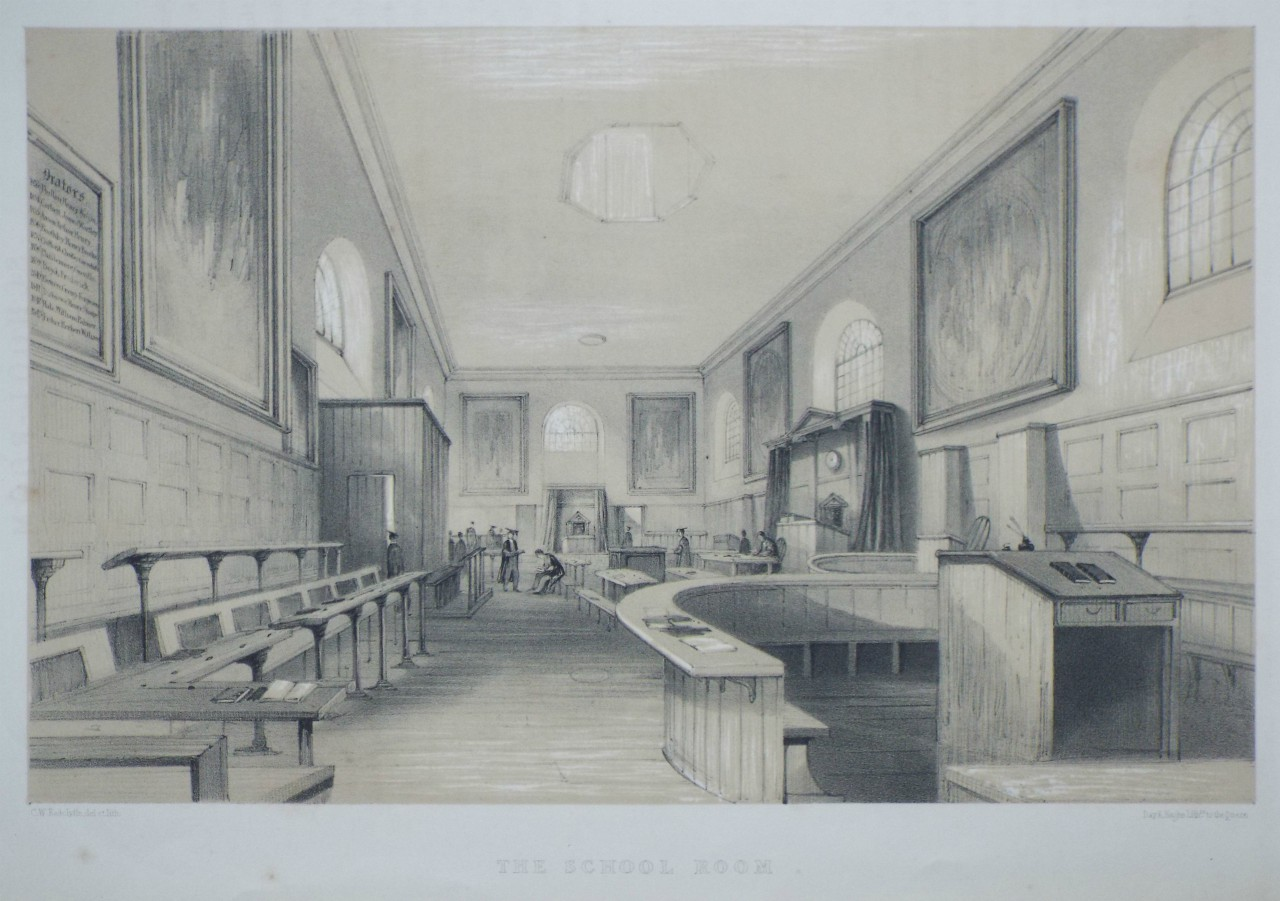 Lithograph - The School Room. - Radclyffe