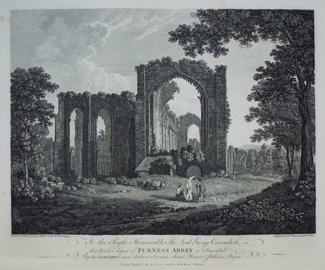 Print - Furness Abbey - Byrne
