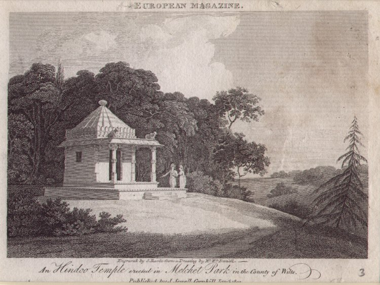 Print - An Hindoo Temple erectin in Melchet Park in the County of Wilts - Rawle