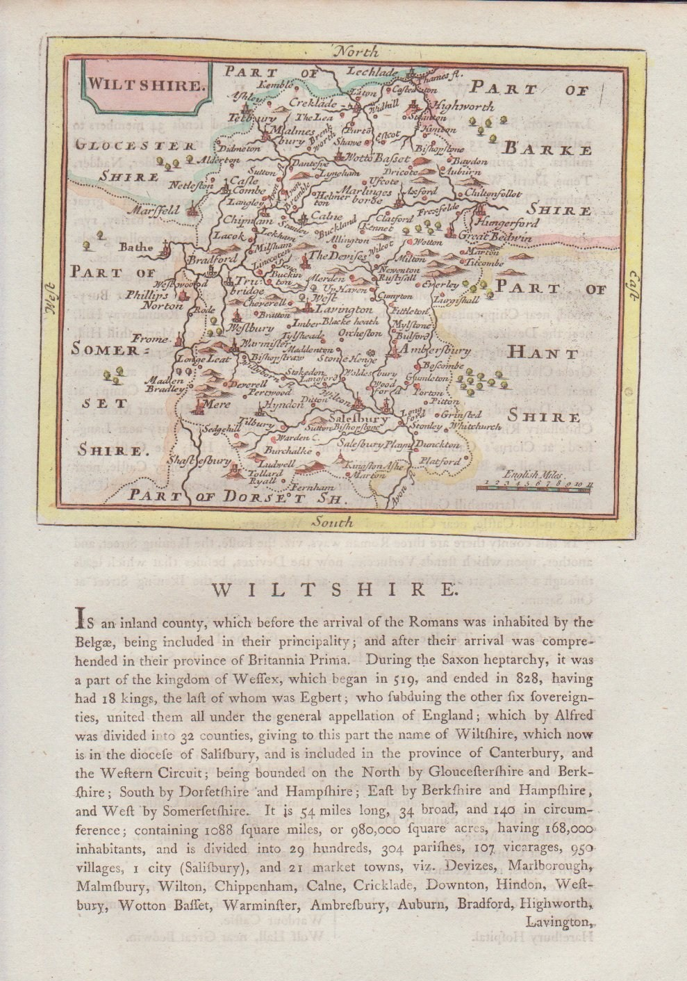 Map of Wiltshire - Seller-Grose