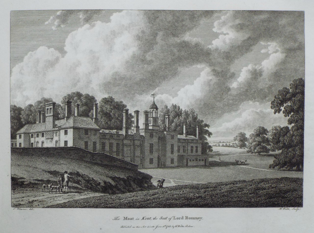 Print - The Moat in Kent, the Seat of Lord Romney. - Watts