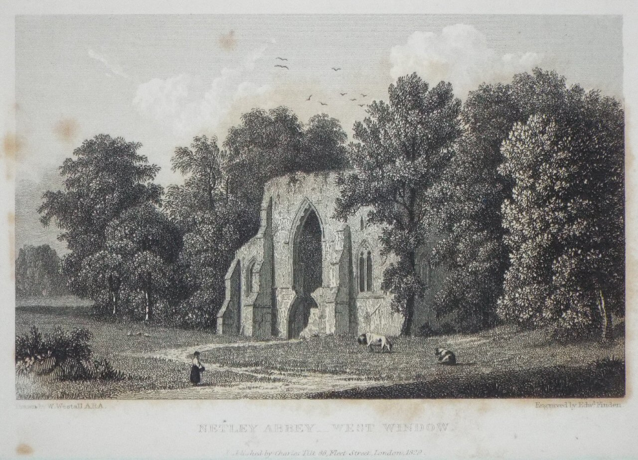 Print - Netley Abbey - West Window. - Finden