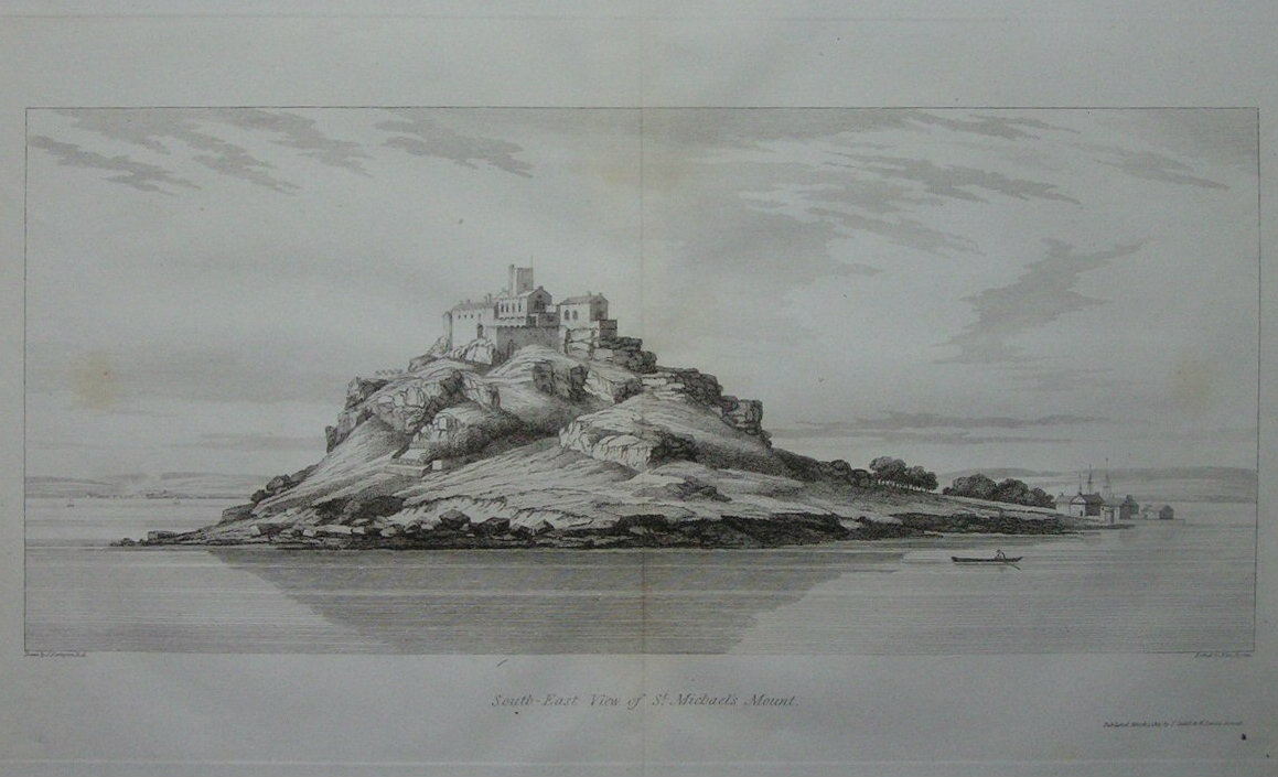 Print - South-East View of St. Michaels Mount. - Byrne