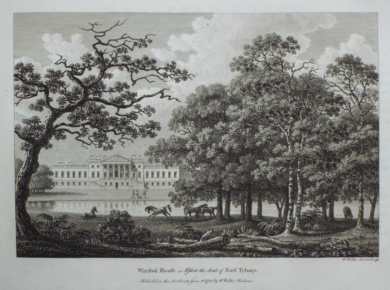 Print - Wansted House in Essex, the Seat of Earl Tylney. - Watts