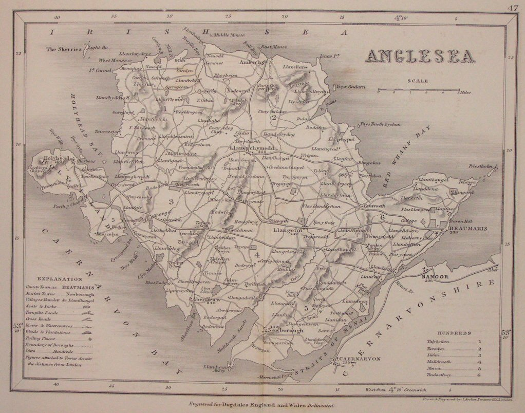 Map of Anglesey - Archer
