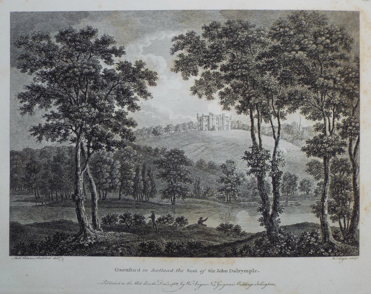 Print - Oxenford in Scotland, the Seat of Sir John Dalrymple. - Angus