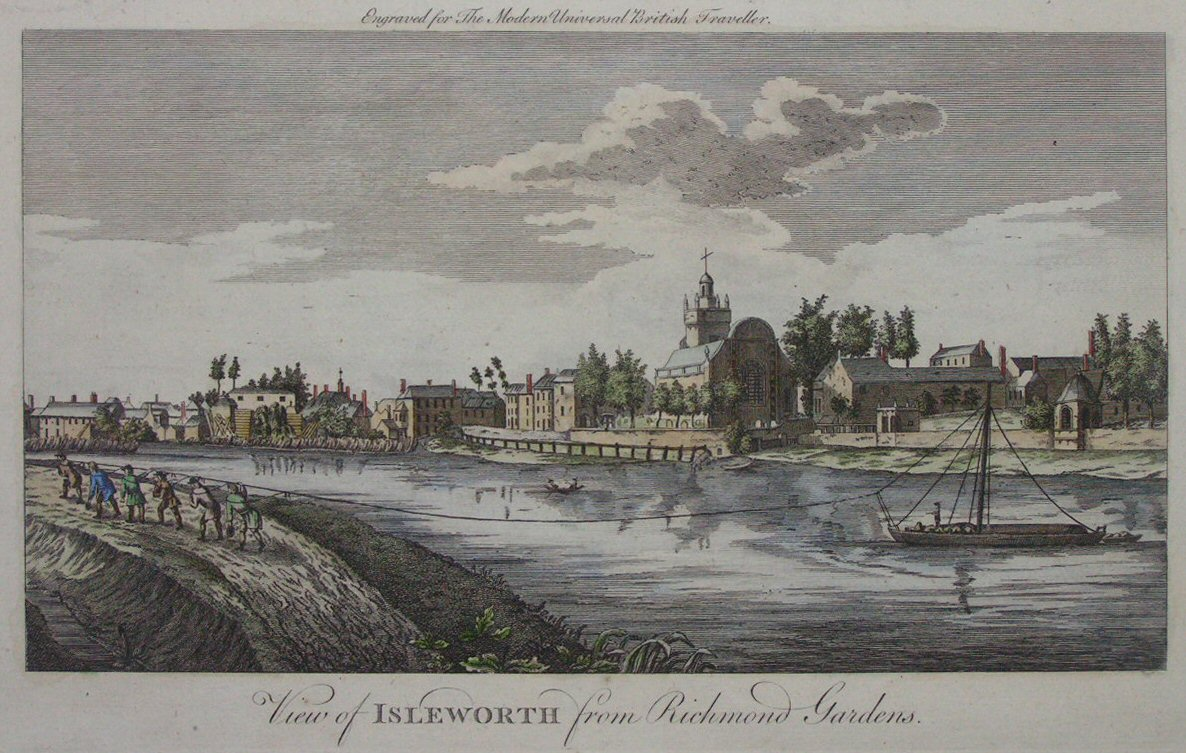 Print - View of Isleworth from Richmond Gardens