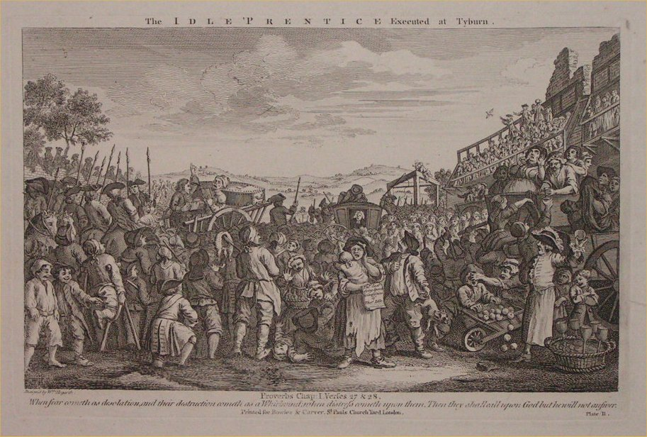 Print - 11. The Idle Prentice Executed at Tyburn
