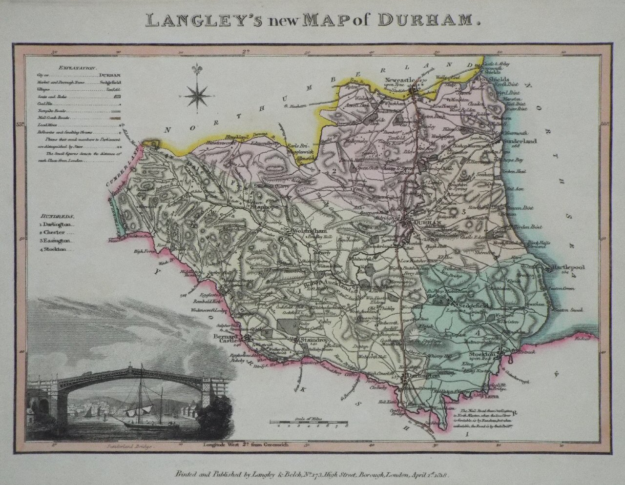 Map of Durham - Langley