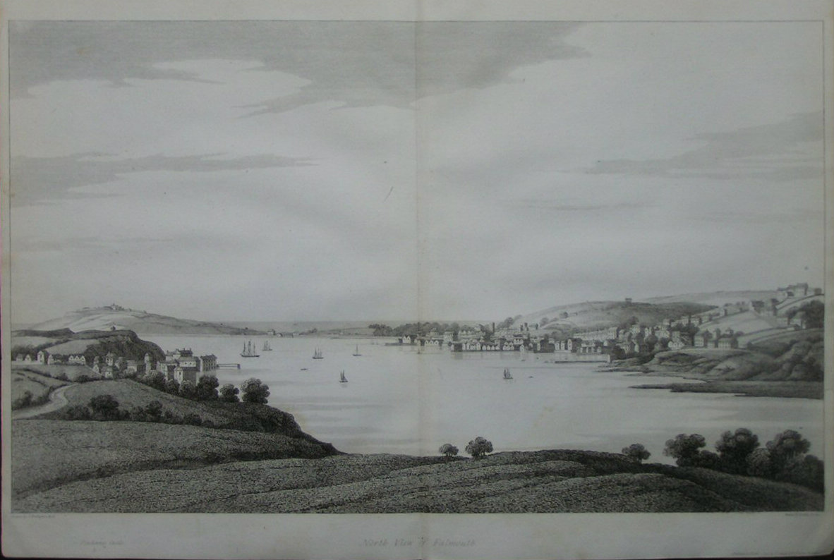 Print - North View of Falmouth. - Byrne