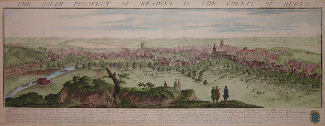 Print - The South Prospect of Reading in the County of Berks - Buck
