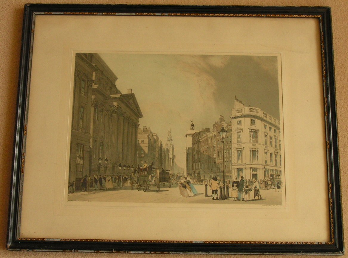 Lithograph - Mansion House, Cheapside &c. - Boys