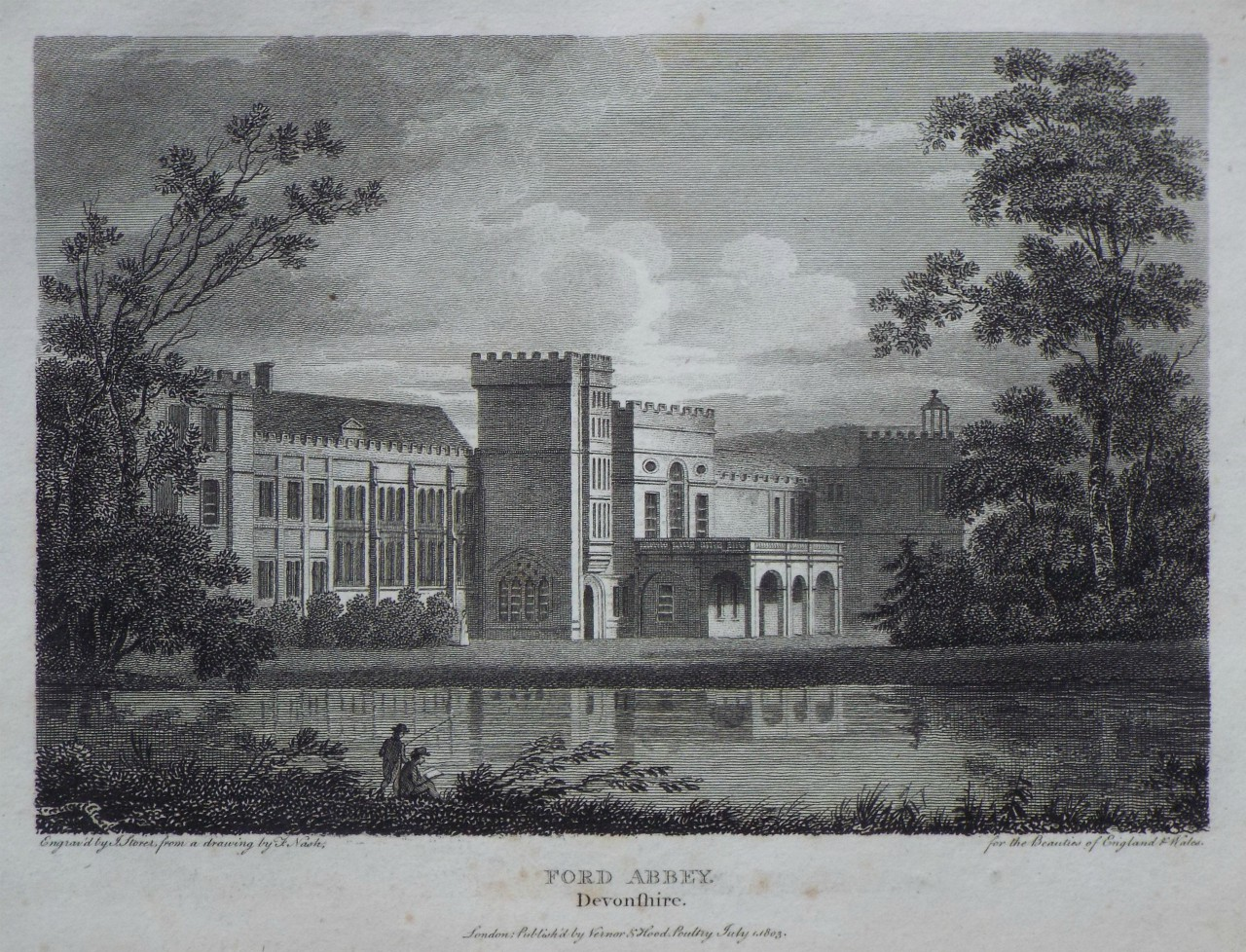 Print - Ford Abbey, Devonshire. - Storer
