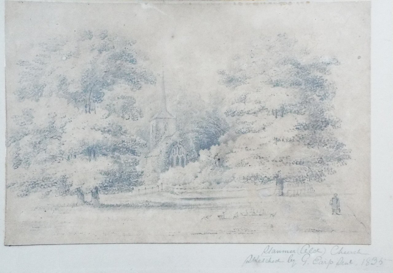 Pencil sketch - Stanmer Old Church