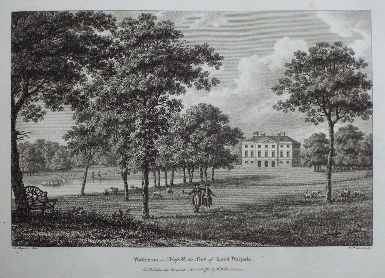 Print - Wolterton in Norfolk, the Seat of Lord Walpole. - Watts