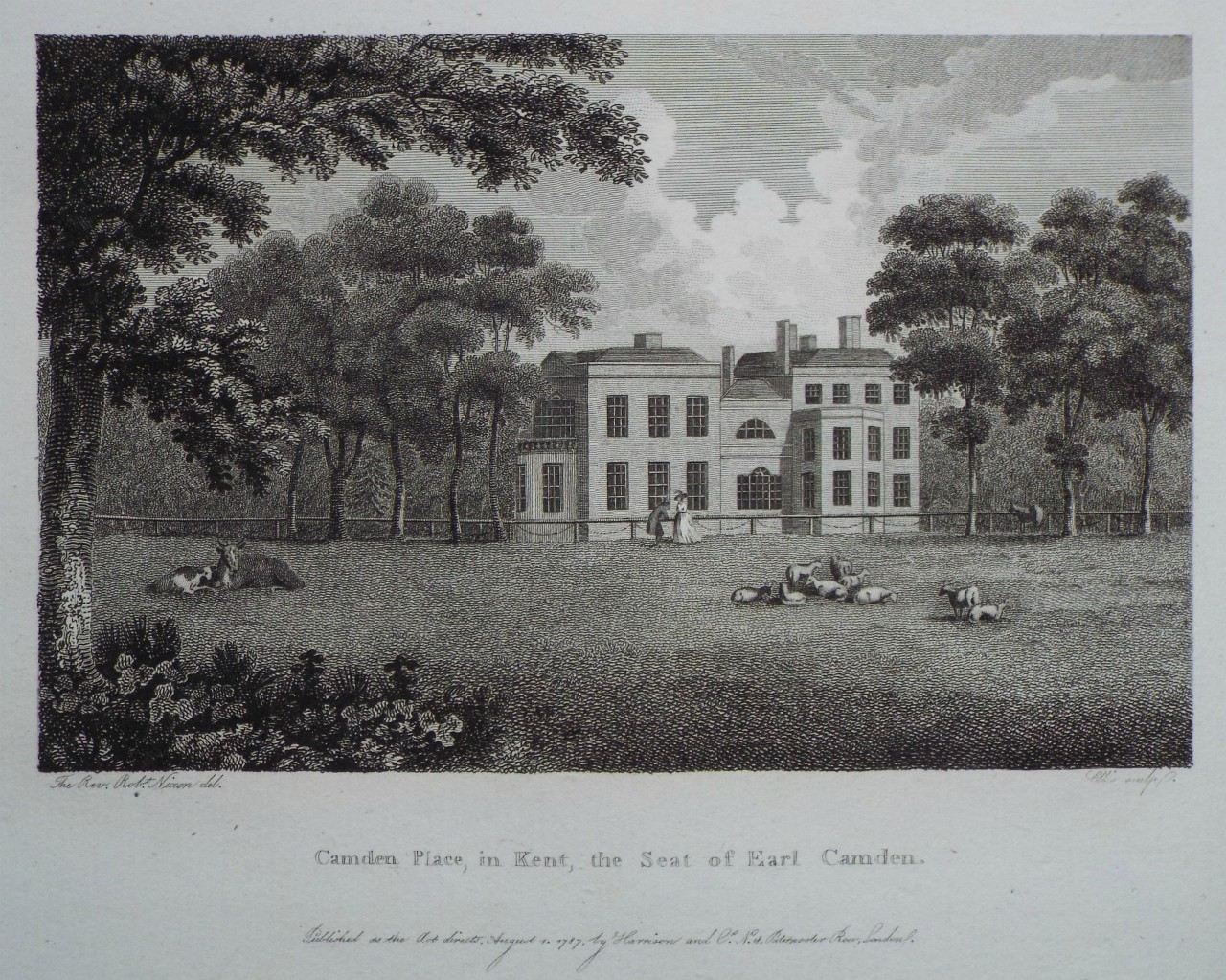 Print - Camden Place, in Kent, the Seat of Earl Camden. -