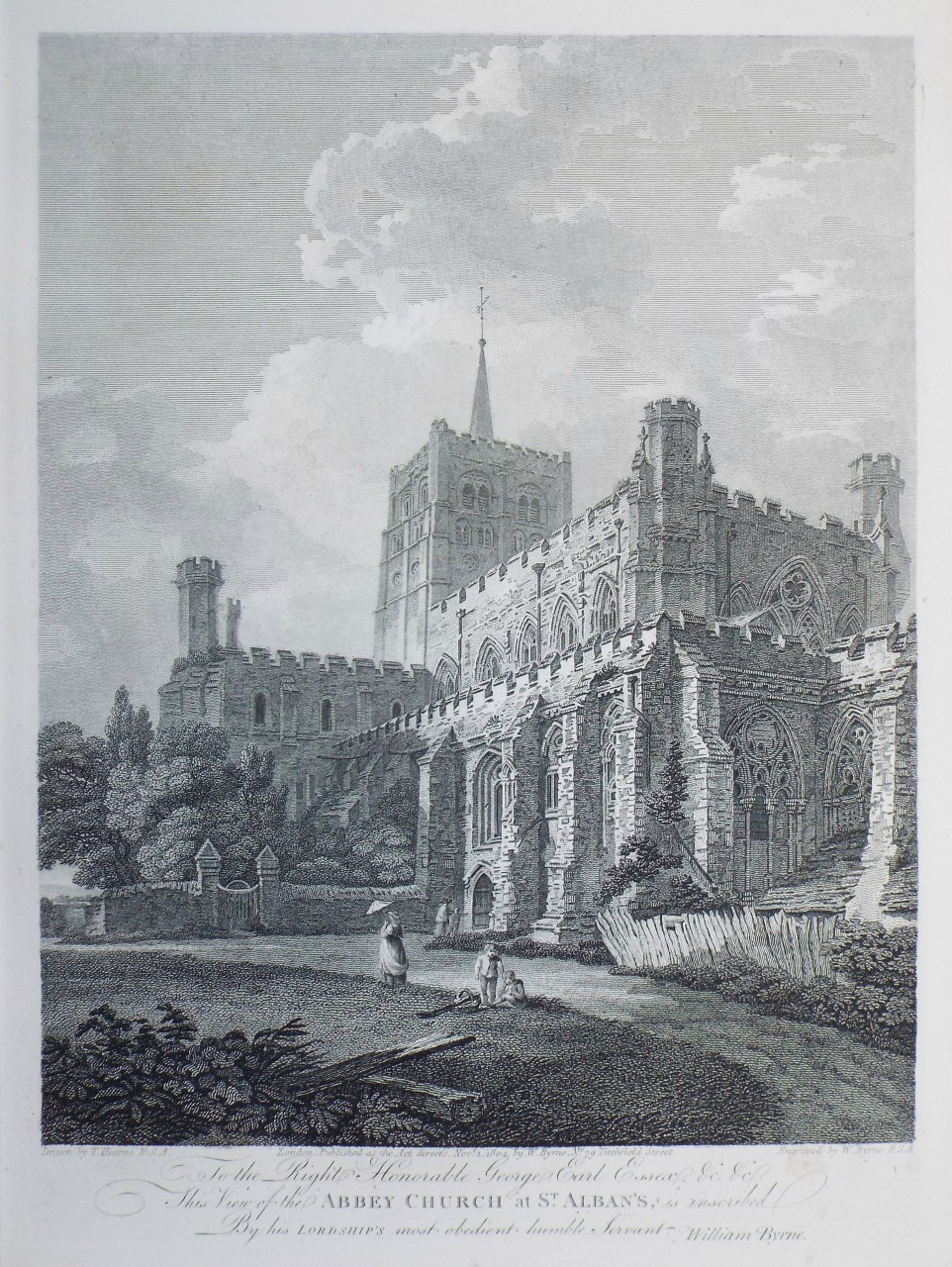 Print - Abbey Church at St. Albans - Byrne