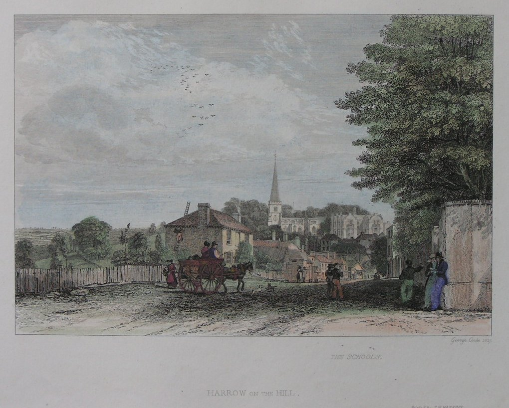 Print - The Schools Harrow on the Hill - Cooke