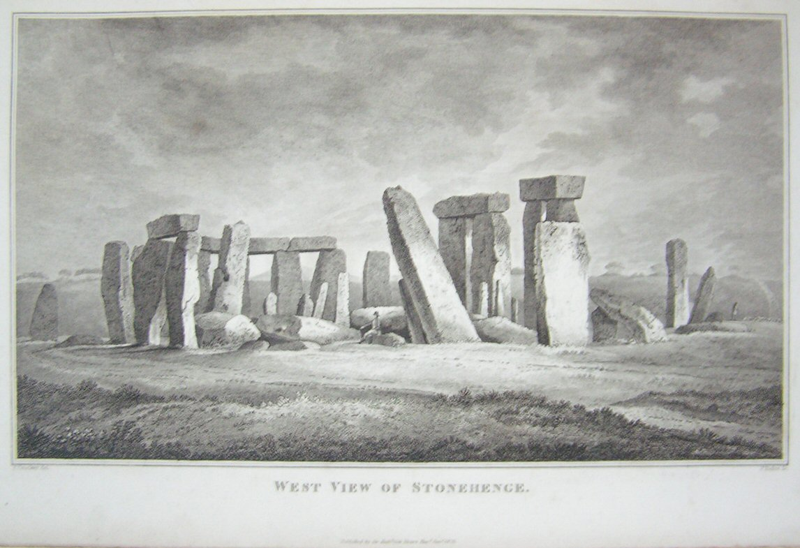 Print - West View of Stonehenge - Basire