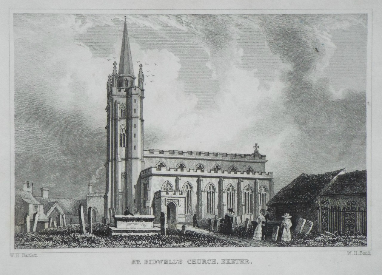 Print - St. Sidwell's Church, Exeter. - Bond