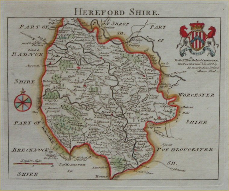 Map of Herefordshire - Rocque
