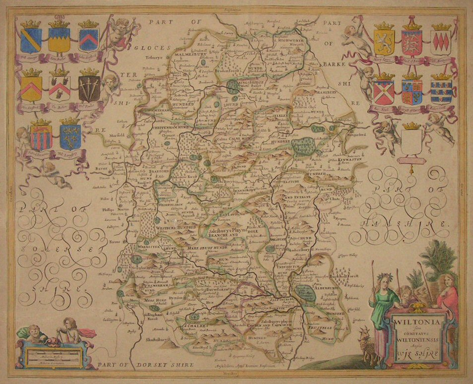 Map of Wiltshire - Overton / Jansson