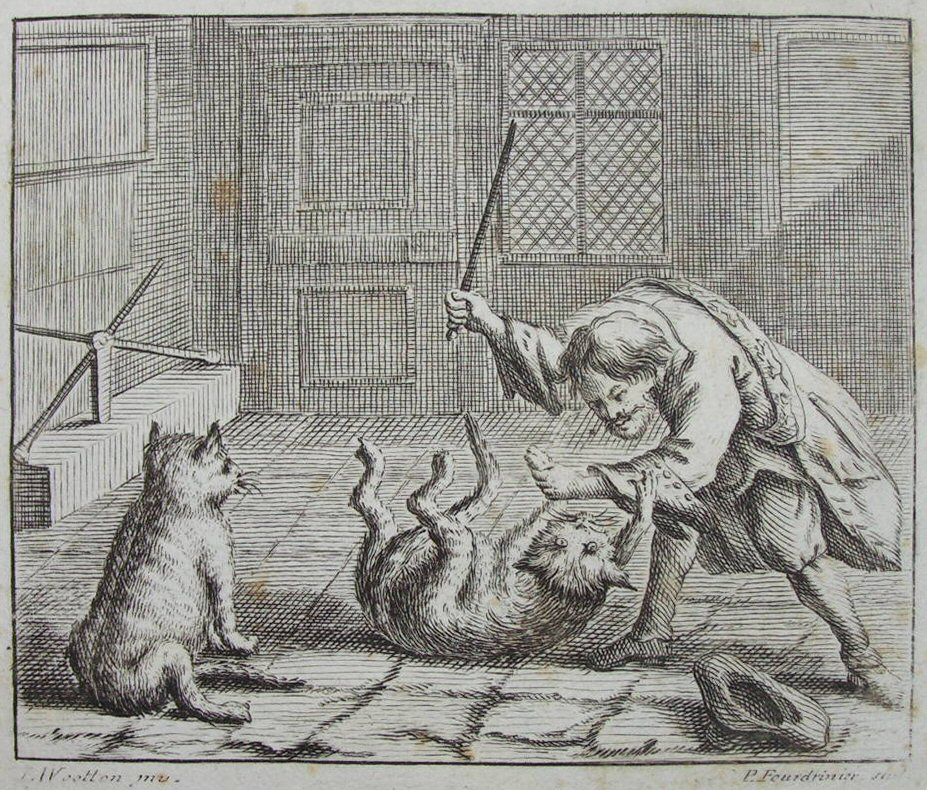 Print - The Rat-Catcher and Cats - Fourdrinier