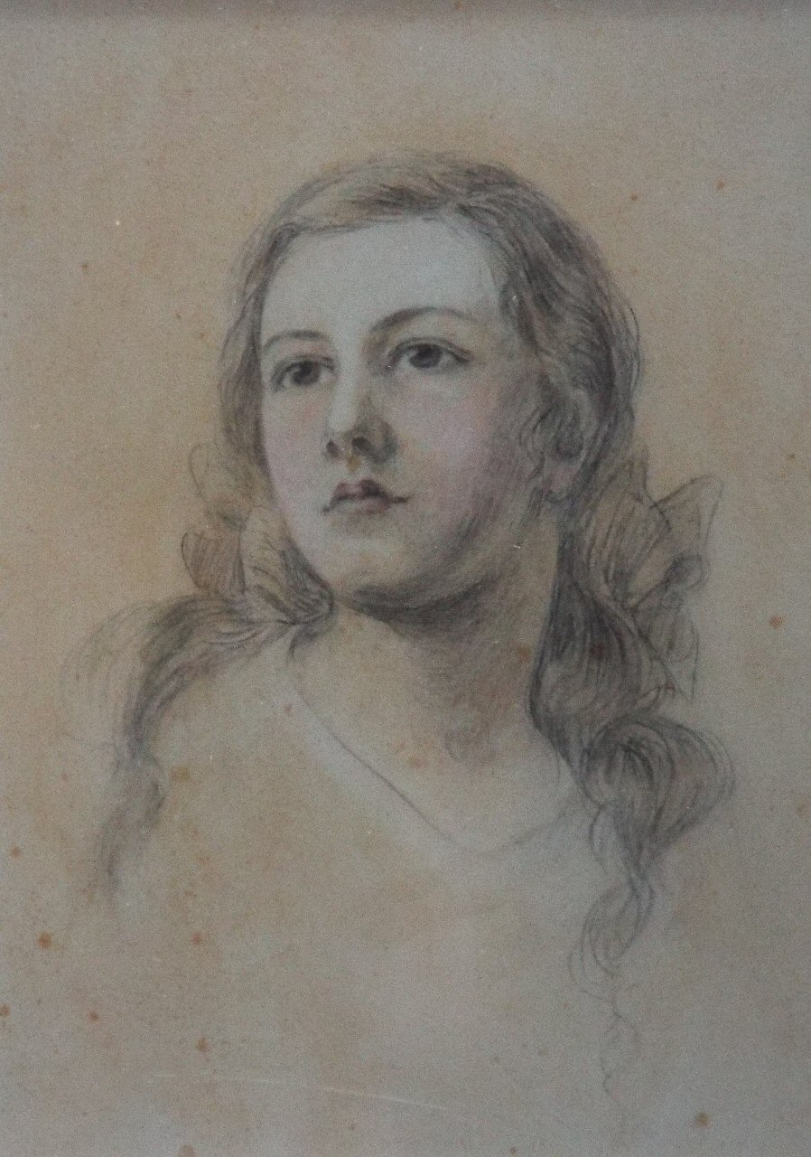 Pencil & watercolour - Portrait of a young woman