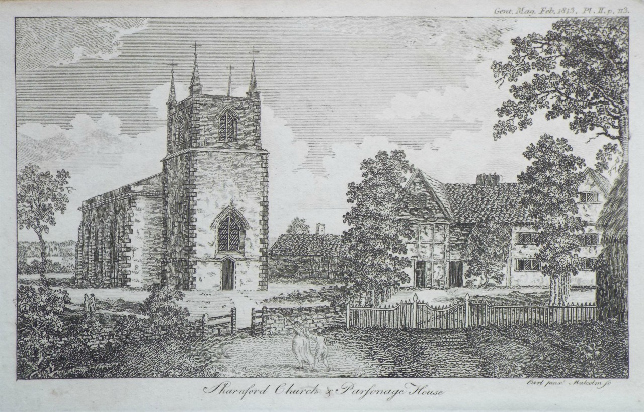 Print - Sharnford Church & Parsonage House -