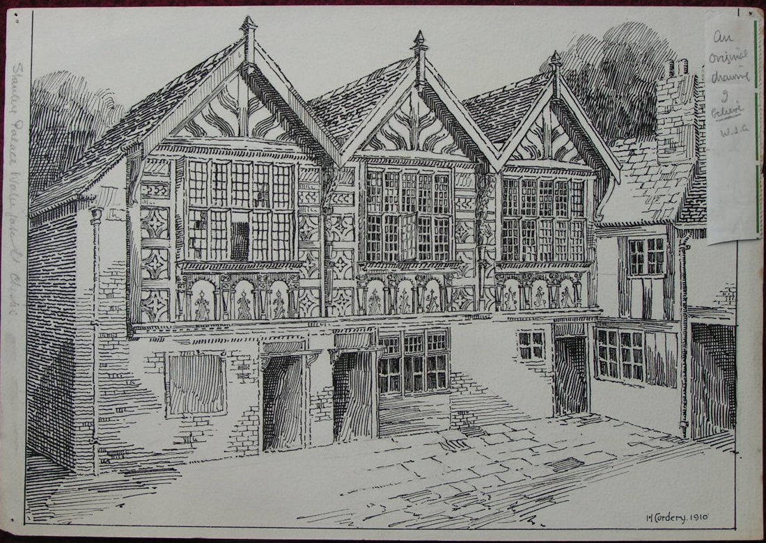 Pen & Ink - Stanley Palace Watergate St Chester