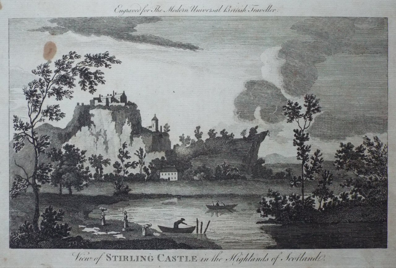Print - View of Stirling Castle, in the Highlands of Scotland.