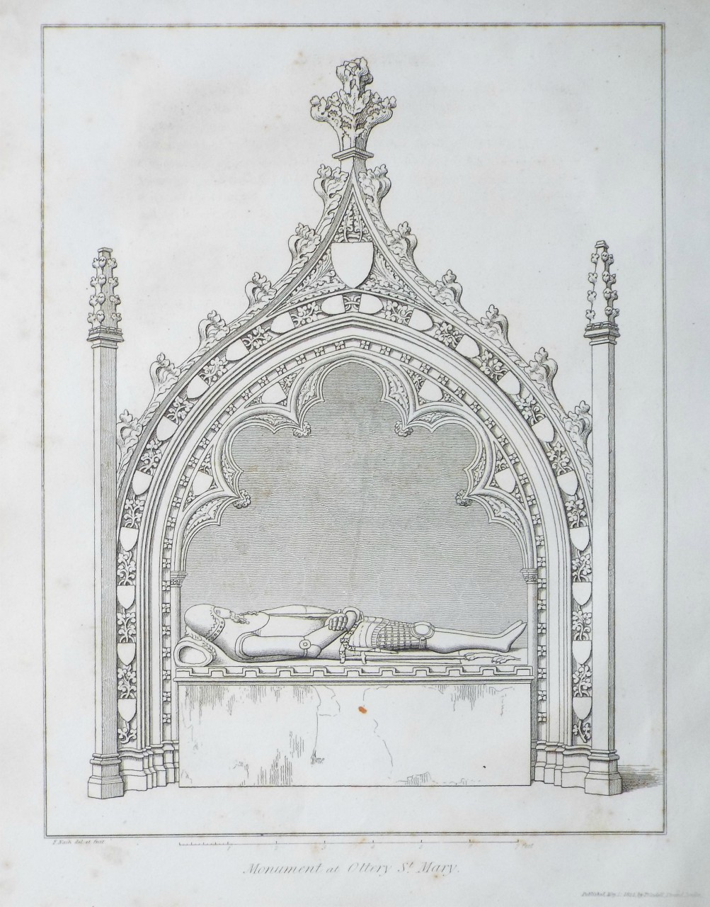 Print - Monument at Ottery St. Mary. - Nash