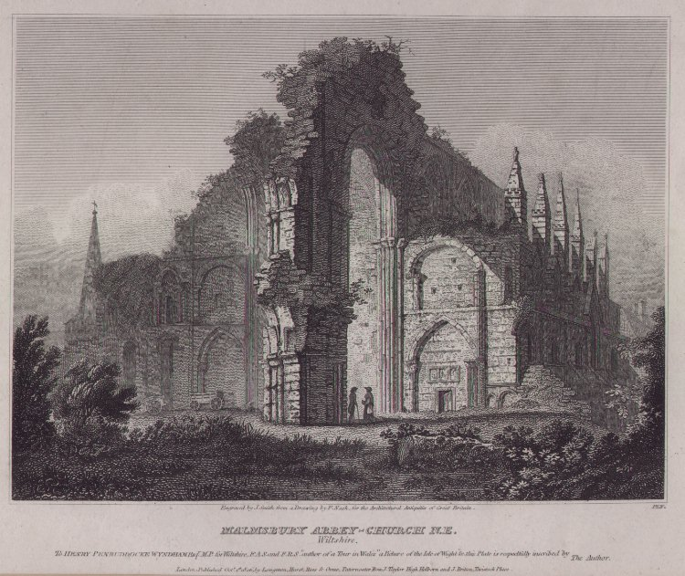 Print - Malmsbury Abbey-Church NE, Wiltshire - Smith