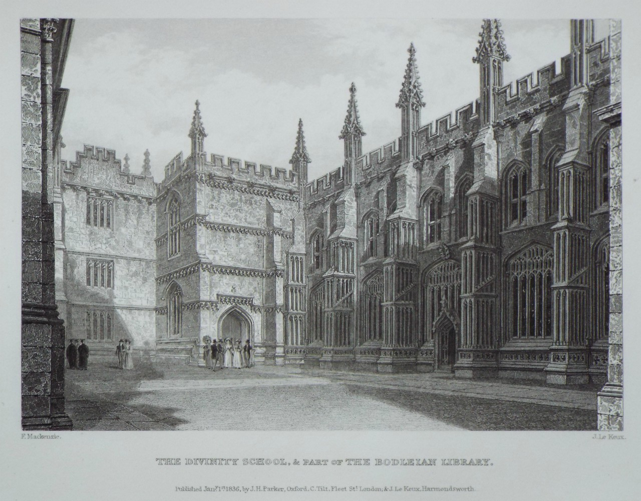 Print - The Divinity School, & Part of the Bodleian Library. - Le