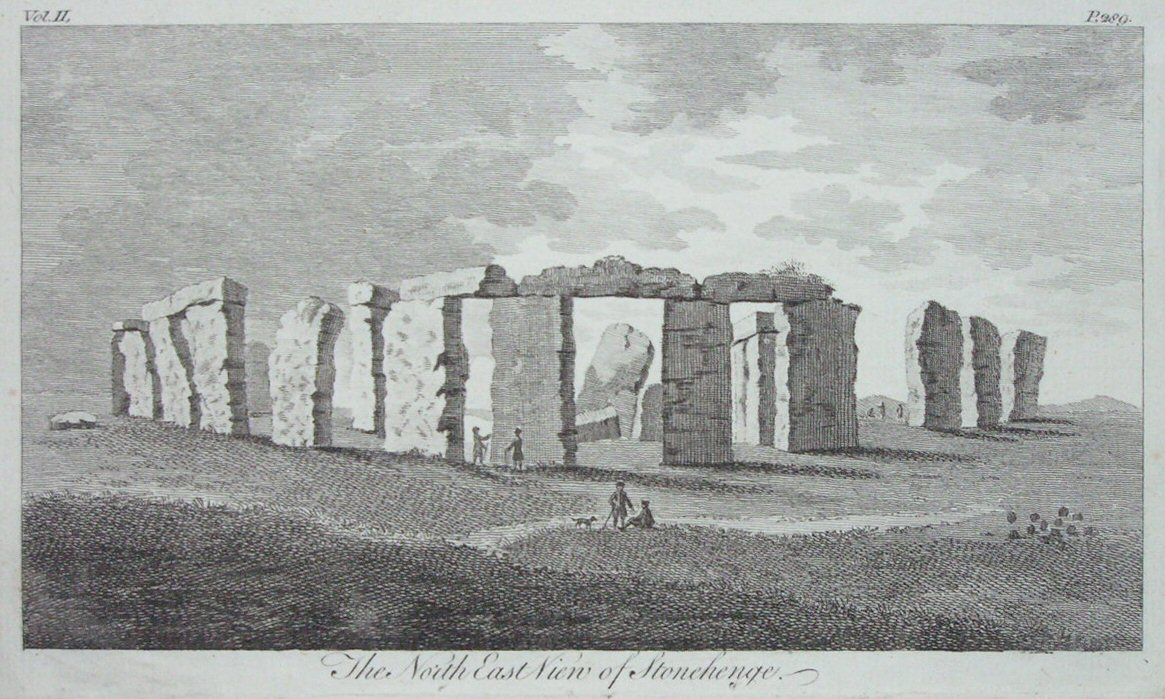 Print - The North East View of Stonehenge